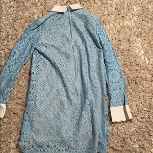 English Factory Dresses - English factory lace dress in light blue